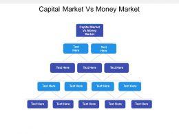 Capital Market Vs Money Market Ppt Powerpoint Presentation Graphic Cpb