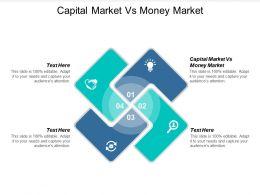 Capital Market Vs Money Market Ppt Powerpoint Presentation Inspiration Designs Cpb