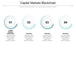 Capital Markets Blockchain Ppt Powerpoint Presentation Portfolio Topics Cpb