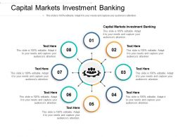 Capital Markets Investment Banking Ppt Powerpoint Presentation Icon Ideas Cpb