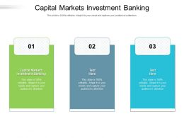 Capital Markets Investment Banking Ppt Powerpoint Presentation Summary Portfolio Cpb