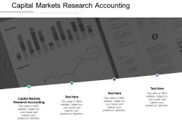 Capital Markets Research Accounting Ppt Powerpoint Presentation Layouts Icon Cpb