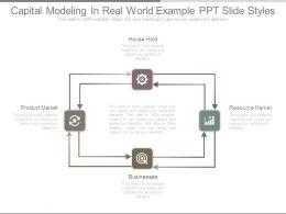 Capital Modeling In Real World Example Ppt Slide Styles