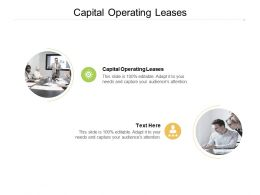 Capital Operating Leases Ppt Powerpoint Presentation Styles Guidelines Cpb