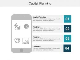 Capital Planning Ppt Powerpoint Presentation File Slide Cpb