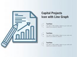 Capital Projects Icon With Line Graph