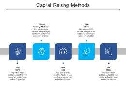 Capital Raising Methods Ppt Powerpoint Presentation Layouts Designs Download Cpb
