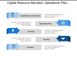 Capital Resource Allocation Operational Plan Qualification Operational Plan