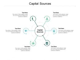 Capital Sources Ppt Powerpoint Presentation Slides Influencers Cpb