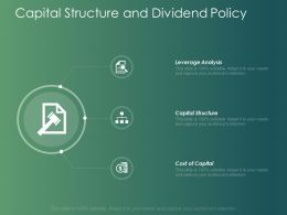 Capital Structure And Dividend Policy Analysis Ppt Powerpoint Presentation Slides