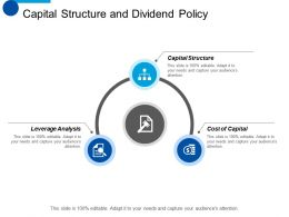 Capital Structure And Dividend Policy Capital Structure Ppt Summary Visuals