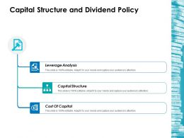 Capital Structure And Dividend Policy Ppt Icon Good