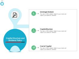 Capital Structure And Dividend Policy Ppt Powerpoint Presentation Diagram Templates