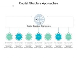Capital Structure Approaches Ppt Powerpoint Presentation Gallery Diagrams Cpb