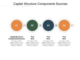 Capital Structure Components Sources Ppt Powerpoint Presentation Maker Cpb
