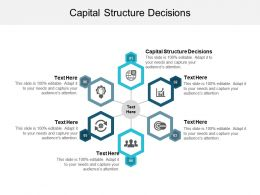 Capital Structure Decisions Ppt Powerpoint Presentation File Clipart Cpb
