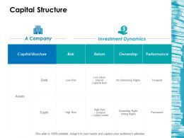 Capital Structure Ppt Icon Graphics