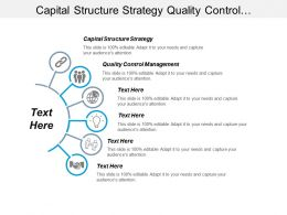 Capital Structure Strategy Quality Control Management Budgeting Planning Cpb