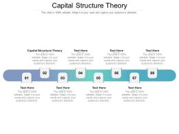 Capital Structure Theory Ppt Powerpoint Presentation Infographic Template Format Ideas Cpb