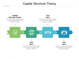 Capital Structure Theory Ppt Powerpoint Presentation Inspiration Visual Aids Cpb