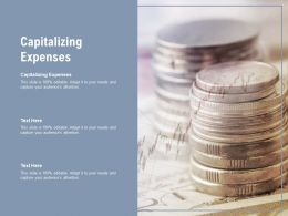 Capitalizing Expenses Ppt Powerpoint Presentation Ideas Cpb