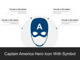 Captain America Hero Icon With Symbol
