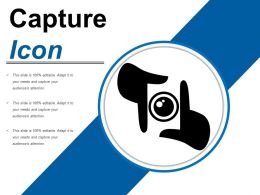 Capture Icon 2 Ppt Infographic Template