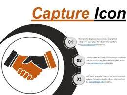 Capture Icon 3 Ppt Infographics
