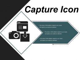 Capture Icon 8 Ppt Slide Design