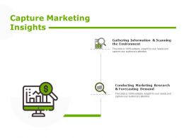 Capture Marketing Insights Finance Planning Ppt Powerpoint Presentation Infographics Good