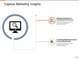 Capture Marketing Insights Forecasting Demand Ppt Powerpoint Presentation Inspiration