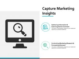 Capture Marketing Insights Ppt Powerpoint Presentation File Ideas