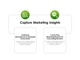 Capture Marketing Insights Ppt Powerpoint Presentation Outline Slide