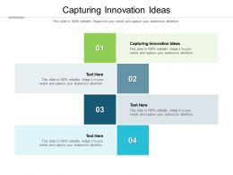 Capturing Innovation Ideas Ppt Powerpoint Presentation Outline Icon Cpb