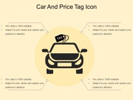 Car And Price Tag Icon