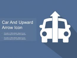 Car And Upward Arrow Icon