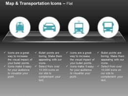Car Bus Bts Train Ppt Icons Graphics
