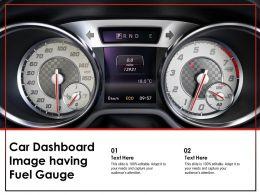 Car Dashboard Image Having Fuel Gauge