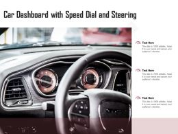 Car Dashboard With Speed Dial And Steering