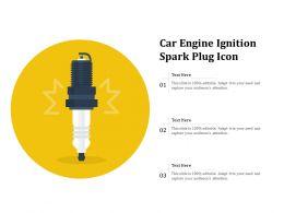 Car Engine Ignition Spark Plug Icon
