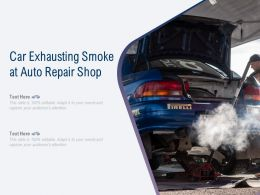 Car Exhausting Smoke At Auto Repair Shop
