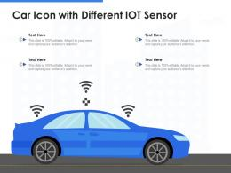 Car Icon With Different IOT Sensor