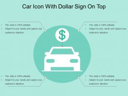 Car Icon With Dollar Sign On Top