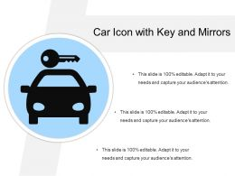 Car Icon With Key And Mirrors