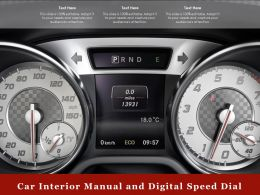 Car Interior Manual And Digital Speed Dial