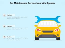 Car Maintenance Service Icon With Spanner