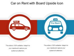 Car On Rent With Board Upside Icon