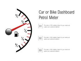Car Or Bike Dashboard Petrol Meter