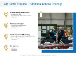 Car Rental Proposal Additional Service Offerings Ppt Powerpoint Presentation Mockup