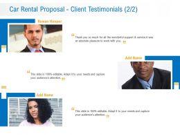 Car Rental Proposal Client Testimonials L12239 Ppt Powerpoint Presentation Professional